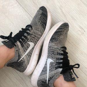Grey Nike Free Running Sneakers